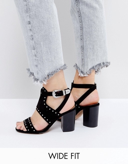 ASOS TAROT CARD Wide Fit Western Heeled Sandals♪