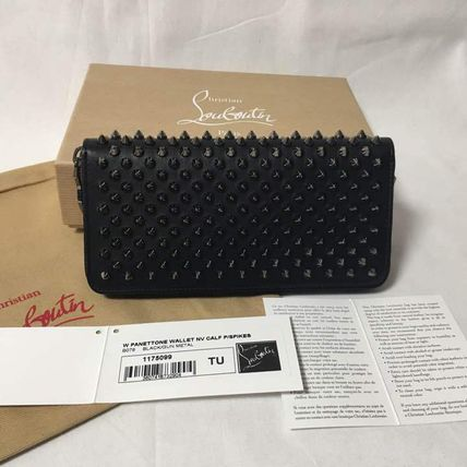 Christian Louboutin P ANET TONE studded leather WALLET long