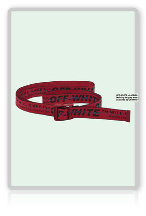 Exclusive OFF-WHITE Industrial Belt off white belt
