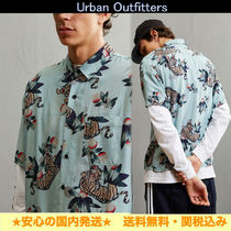 【Urban Outfitters】タイガープリント*レーヨン★半袖シャツ*