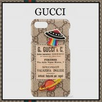 【2017ss!】GUCCI★刺繍が可愛い♪ Courrier  iPhone 6/ 7ケース