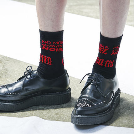 ANOTHERYOUTH another youth lettering socks-black