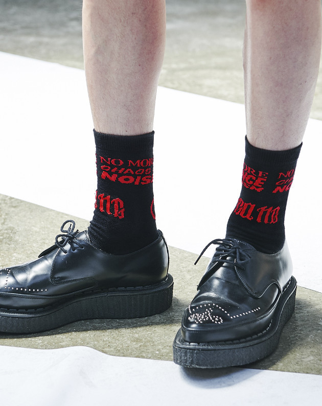 ☆ANOTHERYOUTH(アナザーユース)☆  lettering socks - black