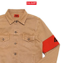 Lサイズ 424 CAMEL DENIM TRUCKER JACKET W/ ARMBAND