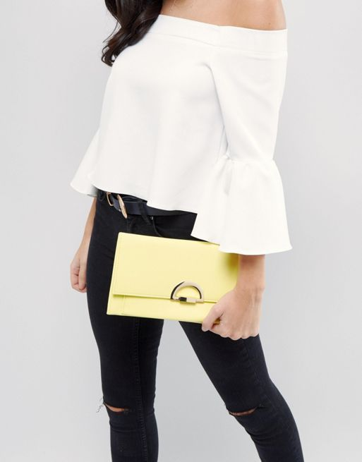 ☆ASOS Slim Clutch Bag With Curved Lock☆