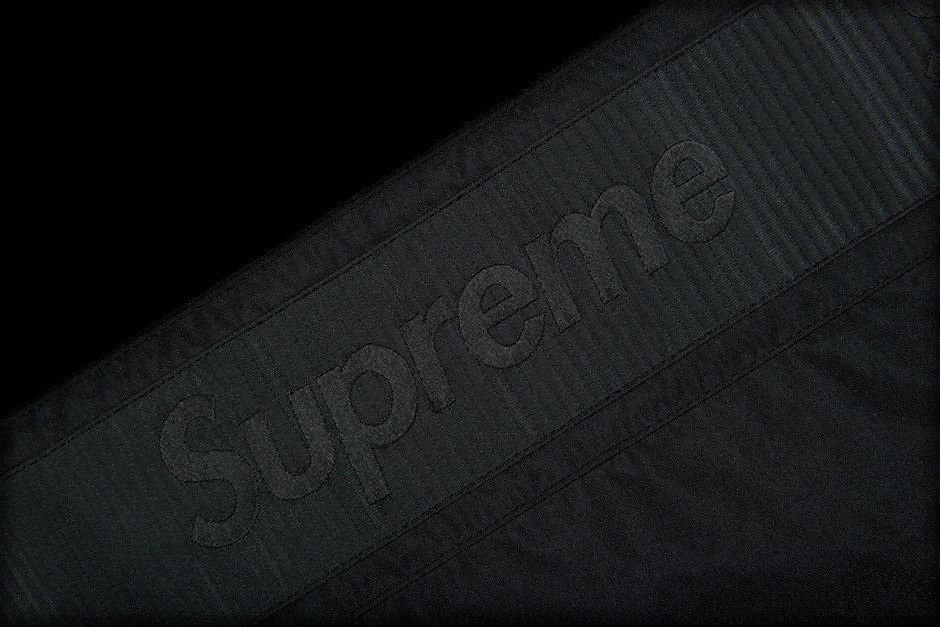 SS17 SUPREME SLEEVE TAPE ANORAK S-XL BLACK ブラック 送料無料