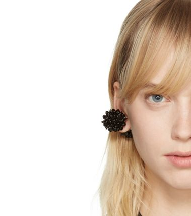 SIMONE ROCHA セール価格 Black Beaded Ball Earring