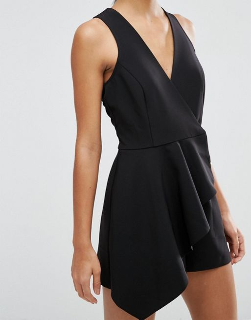 ☆ASOS Sleeveless Wrap Front Playsuit with Ruffle☆