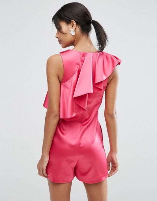☆ASOS Premium Playsuit with Asymmetric Ruffle☆