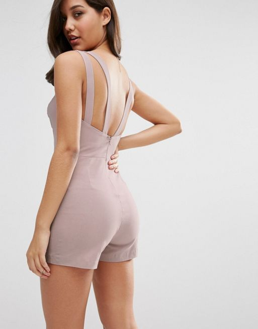 ☆ASOS Sculpt Me Sexy Playsuit With Multi Strap Detail☆
