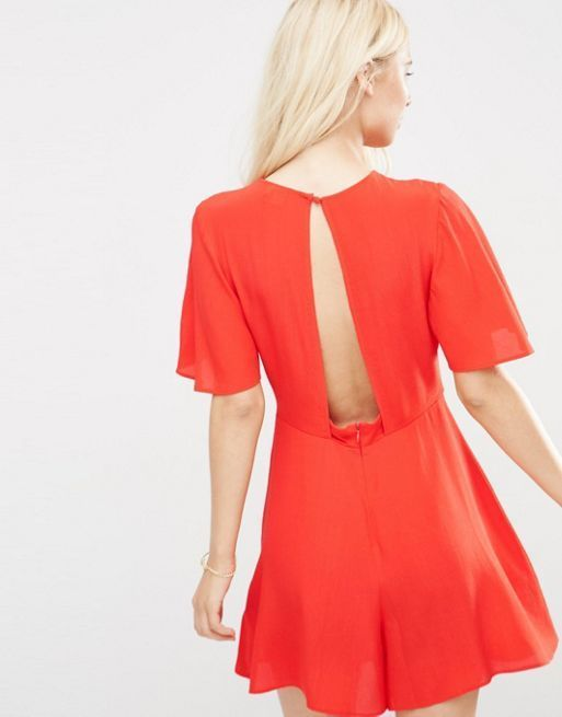 ☆ASOS Flutter Sleeve Playsuit☆