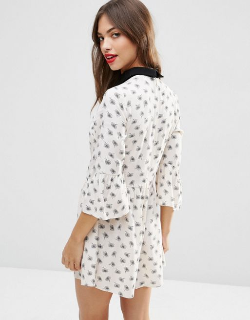 ☆ASOS Mono Floral Playsuit With Tie☆