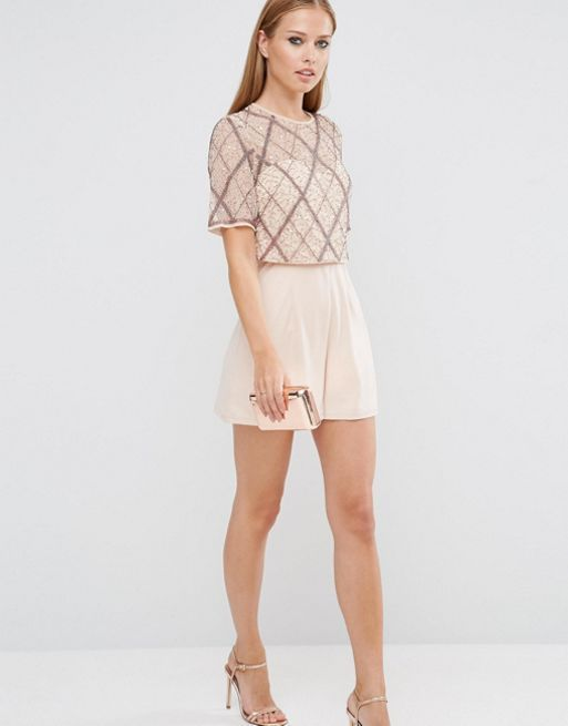 ☆ASOS Double Layer Embellished Playsuit☆