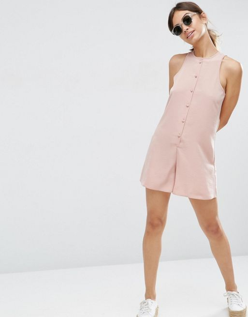 ☆ASOS High Neck Button Front Swing Playsuit☆