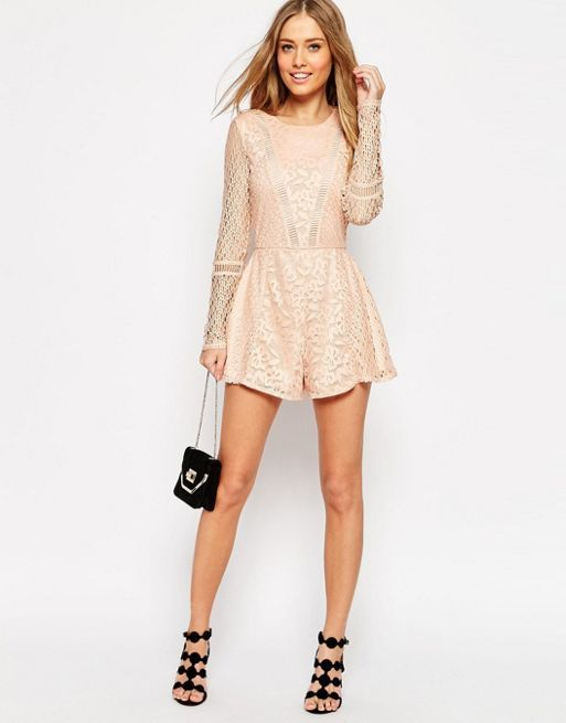 ☆ASOS Playsuit in Pretty Patched Lace☆