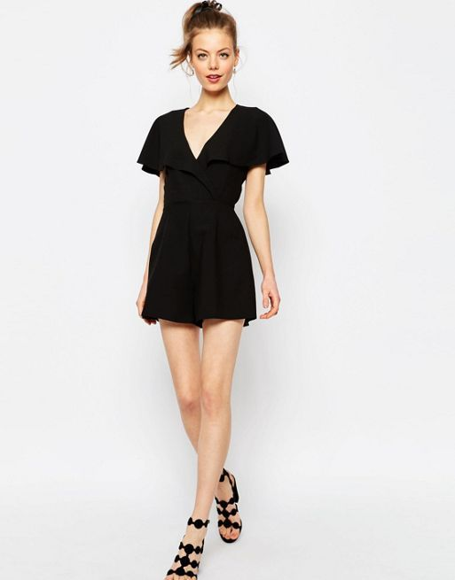 ☆ASOS Occasion Ruffle Wrap Playsuit☆