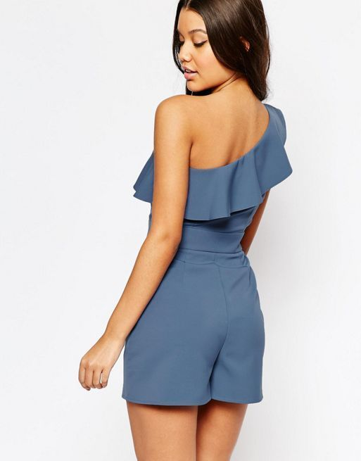 ☆ASOS One Shoulder Playsuit with Ruffle Detail☆