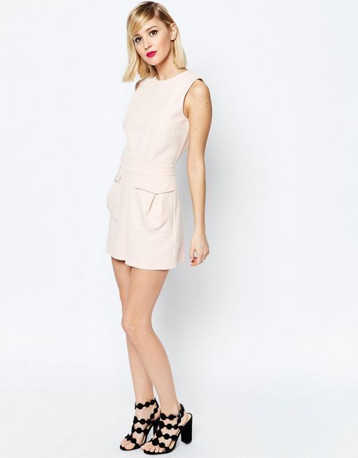 ☆ASOS Woven Occasion Playsuit with Patch Pockets☆