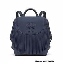 送料・関税込み♪ Tory Burch HARPER FRINGE MINI BACKPACK NAVY