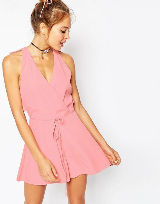 ☆ASOS Ruffle Back Tie Playsuit with Raw Edge☆