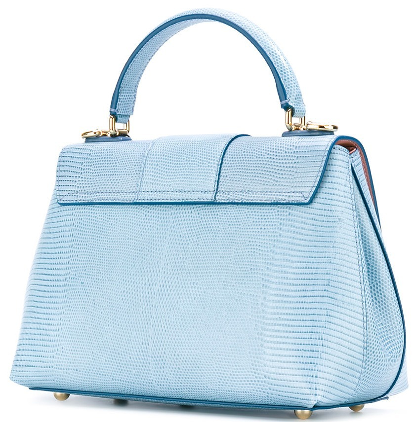 17-18AW DG1168 LUCIA SMALL BAG IN IGUANA EMBOSSED LEATHER