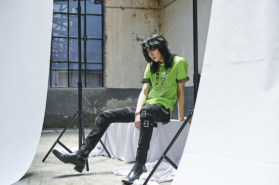 ★ANOTHERYOUTH★17ss  chain sid t - light green ユニセックス