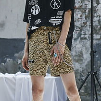 ★ANOTHERYOUTH★17ss zipper stud shorts - leopard