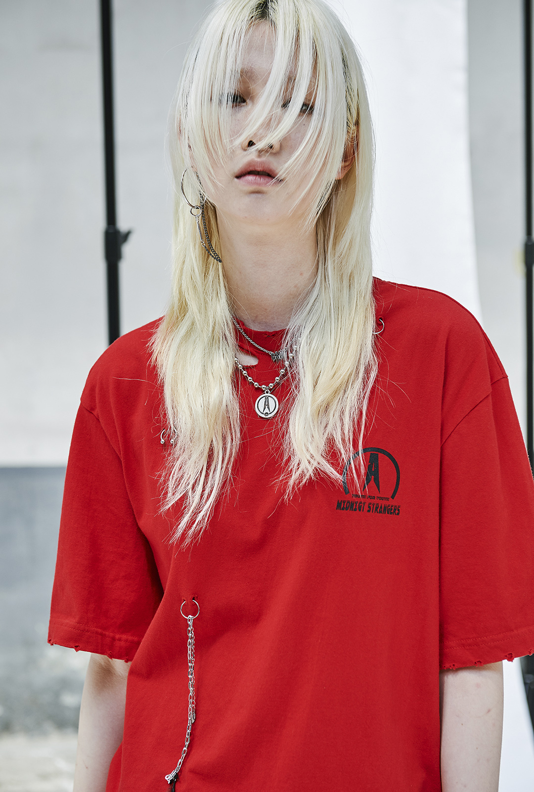 ★ANOTHERYOUTH★17ss  piercing t - red ユニセックス