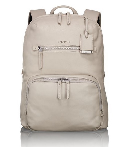 【送料込】 Tumi ★ 17001 Voyageur Halle Leather Backpack