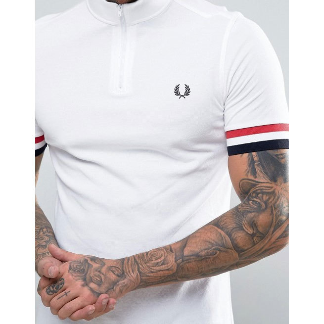 ASOS取り扱い★Fred Perry ZIPネックシャツ♪