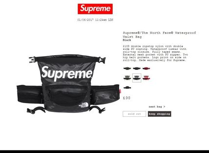 Supreme the north face waterproof waist bag collaboration