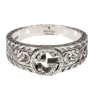 GUCCI ring Gucci interlocking G ring silver 23
