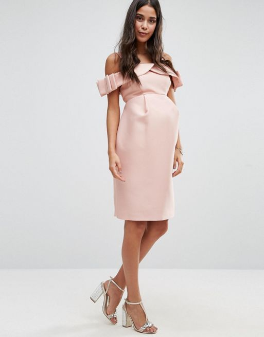 ☆ASOS Maternity Bow Cold Shoulder Occasion Dress☆