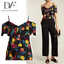 ☆ DVF ☆エレガント cold-shoulder シルクトップス ☆関税込