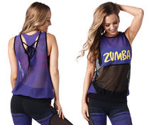 新作♪ZumbaズンバZumba Sunrise Loose Tank-Purple Moon
