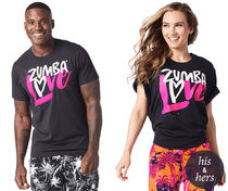男女兼用♪ZumbaズンバZumba Love Graphic Tee-Back to Black