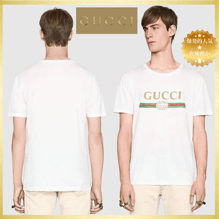 popular Gucci Washed t-shirt with Gucci print