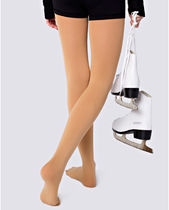 ivivva athletica(イヴィヴァ アスレティカ) 靴下、タイツ、ブルマ、スパッツ類 【 Footed Performance Skate Tight 】★ kr caramel