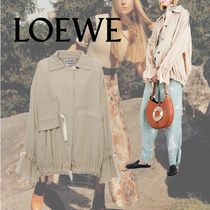 LOEWE Drawstring-Detail Cotton-Blend Jacket