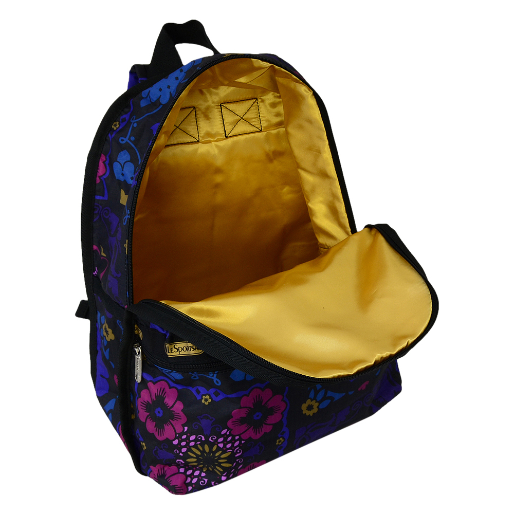 ● LeSportsac BACKPACK 7812 D705 MIDNIGHT FLOWER PATCH ●
