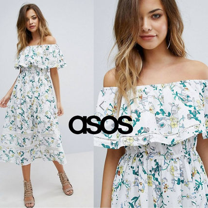 = ASOS = * * adult floral offshore dress
