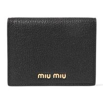 ★関税負担★MIU MIU★TEXTURED-LEATHER WALLET
