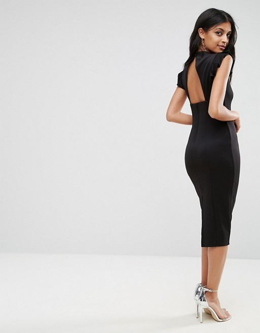 ★送料/関税無料★ ASOS Cut Out Back High Neck Pencil Dress