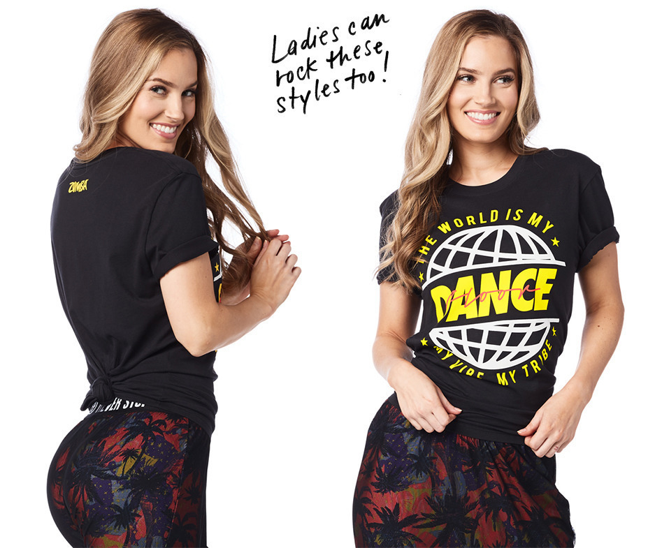 H29.6月新作【ZUMBA】The World is My Dance Floor Tee Z2T00304