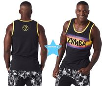 H29.6月新作☆【ZUMBA】Dancing at Dusk Tank(Black)Z2T00303