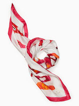 kate spade ★hot sauce silk square scarf ホットソース