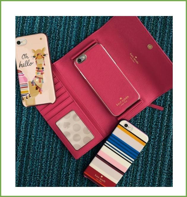 【Kate Spade】leather iphone 7 phone wallet