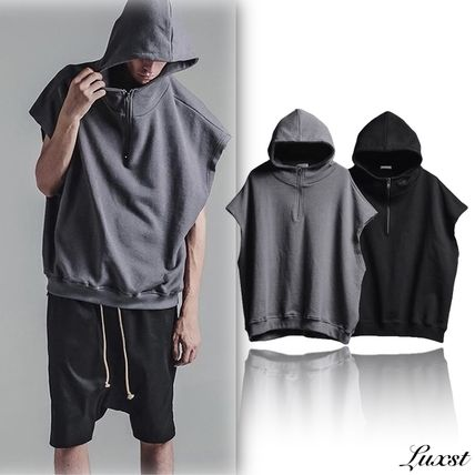 Luxst select sleeveless drop shoulder Hoodie