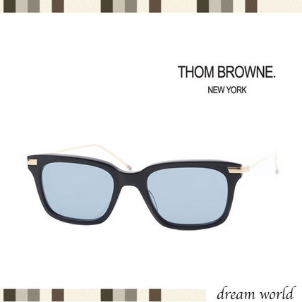 Earlier sale victory THOM BROWNE sunglasses blue