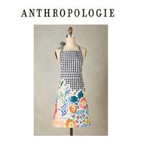 セール★Anthropologie Bearing Flowers Apron チェックエプロン